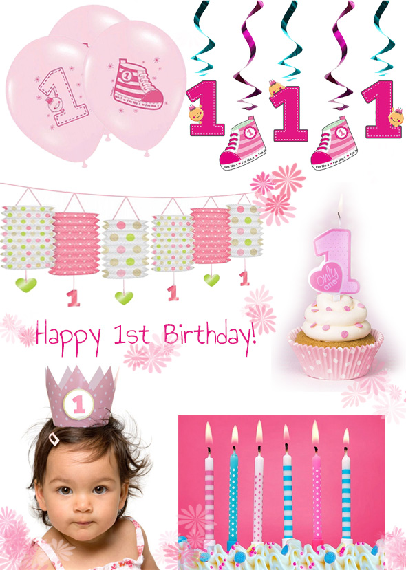 s e deko f r den 1 geburtstag in pink und blau baby belly party blog. Black Bedroom Furniture Sets. Home Design Ideas
