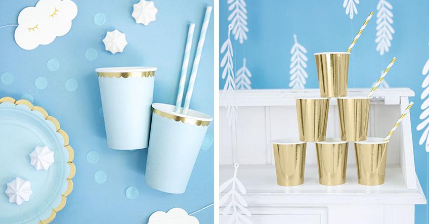 Festlich & verträumt: Taufdeko in Weiß, Gold & Blau