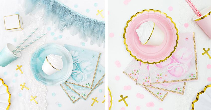 Mit Pastellfarben setzt du zur Taufe  sanfte Farbakzente - die Deko gibts bei uns :)