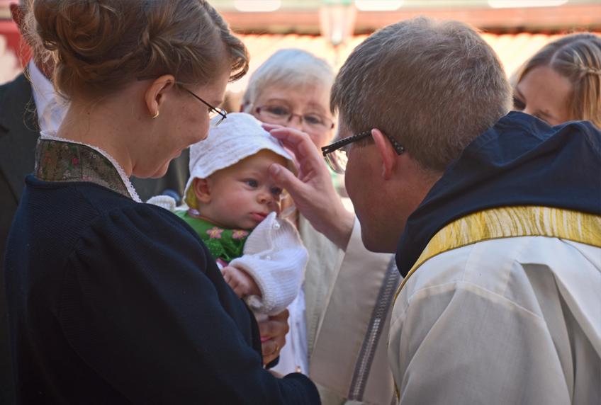 Die Taufe von Magdalena war auch für die Eltern ein bedeutender Tag