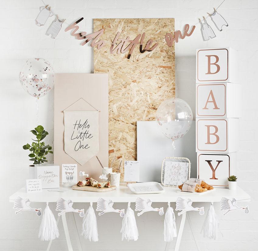 Empfange das Baby mit einer schönen Welcome Babyparty