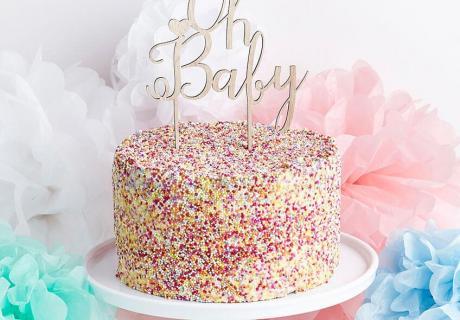 Es wird bunt - mit Zuckerstreuseln zum fröhlichen Baby Sprinkle