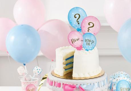 Es wird spannend... und süß! Cake Topper farblich perfekt passend zu eurer Gender Reveal Party