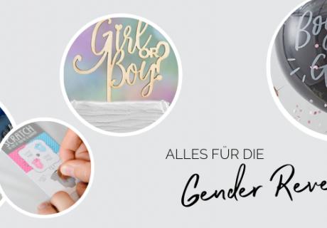 Alles von Deko über Spiele bis Backzubehör für die Gender Reveal findest du hier
