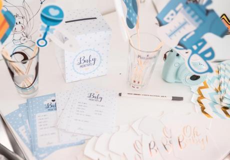 Nimm der Bald-Mama zur Baby Shower die Organisation von Spielen, Deko und anderem ab(c) inspiredbymk
