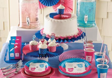 Junge oder Mädchen? Ein Gender Reveal Sweet Table in Pink und Blau